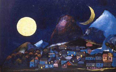 1-Equinozio-o-Le-due-lune-olio-e-collage-su-tavola-2004-collezione-privata
