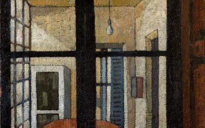 1-Interno-della-casa-di-Felice-Casorati-olio-su-tela-1951-collezione-private