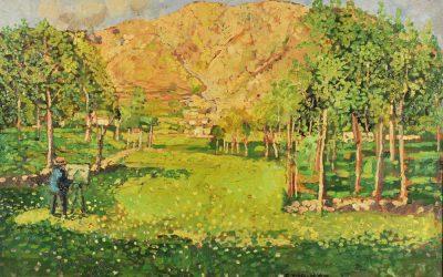 5-Il-pittore-Enrico-Reycend-olio-su-tavola-collezione-privata