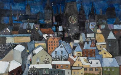5-Praga-olio-e-collage-su-tela-1998-collezione-privata
