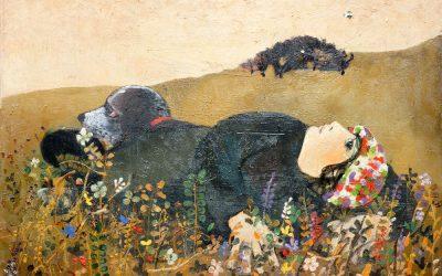9-Figura-nel-pascolo-1964-olio-su-tela-collezione-privata-