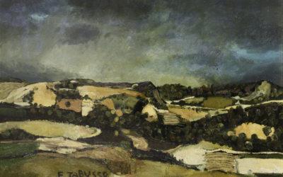 2.Colline presso Dozza olio su tela 1983 Collezione privata