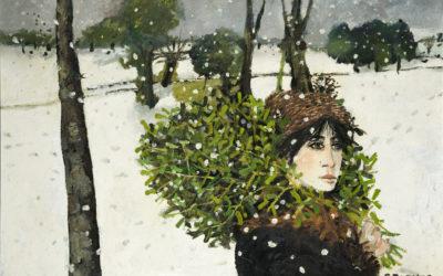 3.Ritorno con vischio, olio su tela 1985 Collezione privata