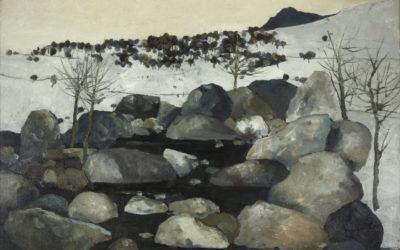 4.Inverno sul torrente, olio su tela 1986 collezione privata