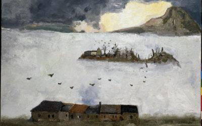5.Mare di nebbia olio su tela 1989 collezione privata