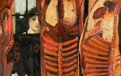 Macelleria, 1977, olio su tela, Torino collezione privata