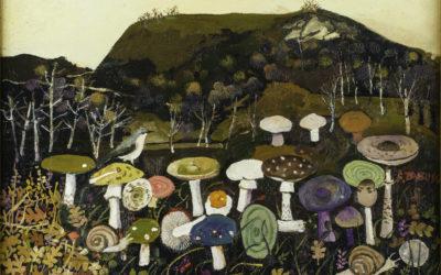 73 P198209 Paesaggio con funghi 1982 c.-foto Leoncini